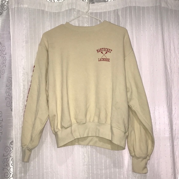 Brandy Melville Sweaters - yellow brandy melville nantucket lacrosse sweater ! 94c70bdc4